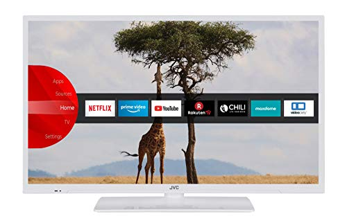 JVC LT-32V54LWA 81 cm / 32 Zoll Fernseher (Smart TV inkl. Prime Video / Netflix / YouTube, HD-Ready, Bluetooth, Triple-Tuner)
