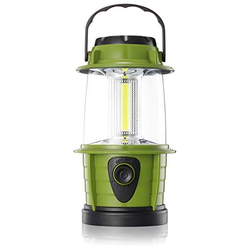 ETRENDS Portable LED Camping Lantern Flashlight  Dimmable  Survival Kit for Emergency Power Outage Hurricane Battery Powered Green