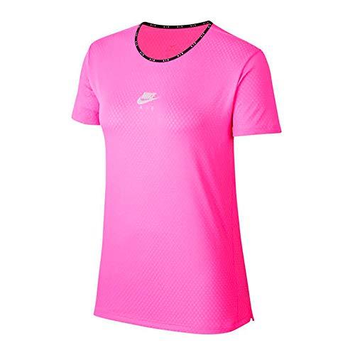 Nike Damen Air T-Shirt, Fire Pink/Reflective Silv, M