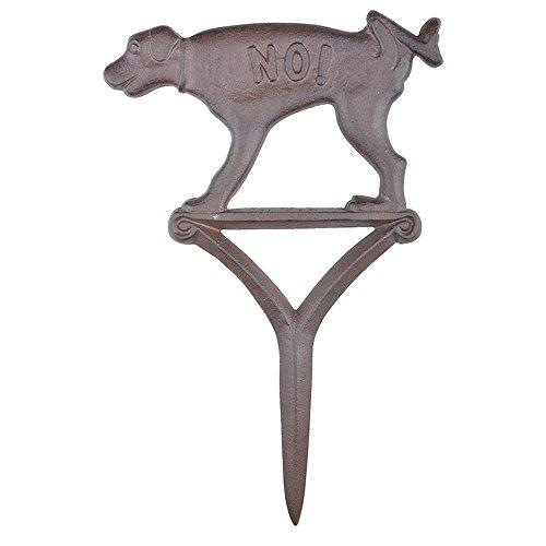 Esschert Design HB15 Dog Sign Peeing No!, Brown
