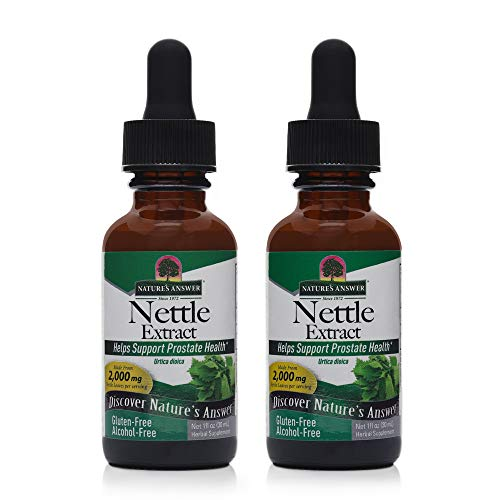 Nature's Answer Nettles Extract | Herbal Supplement | Helps Support Prostate Heath | Non-GMO, Kosher, Gluten-Free, Alcohol-Free 1oz (2 Pack)
