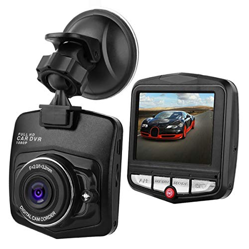 """Maso, telecamera da cruscotto da 2,4"""", 1080p, HD, videocamera DVR, da cruscotto, per auto, con visione notturna, G-Sensor, visione a 170°, doppia lente, telecamera anteriore e posteriore"""