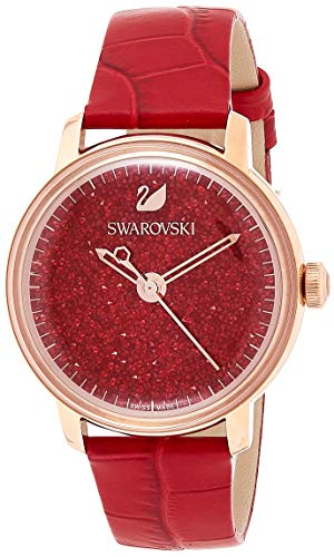 Swarovski Crystalline Hours Damen-Armbanduhr 38mm Armband Leder Quarz 5295380