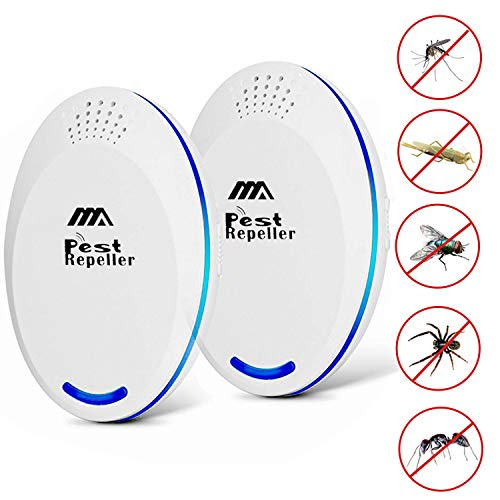 Adoric 2020 Ultraschall Schädlingsbekämpfer Moskitoschutz mükenschutz - 【2 Set】 Anti-Mücken Nagetier Insekten, Ameisen, Mäuse, Schaben, Spinnen usw.
