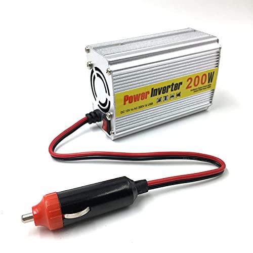 Inversor Convertidor de energía de elevación de la batería del coche de 12V a 220V a 220V Inversores de corriente (Size : 200W)