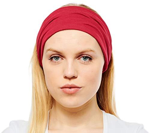 Antonia York, Stirnband für Damen, Turban, breites Kopfband Gr. Einheitsgröße, wein
