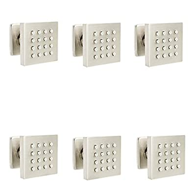 AYIVG 6 PCS Solid Brass Massage Shower Body Jet Spayer Head For Spa Bathroom Brushed Nickel