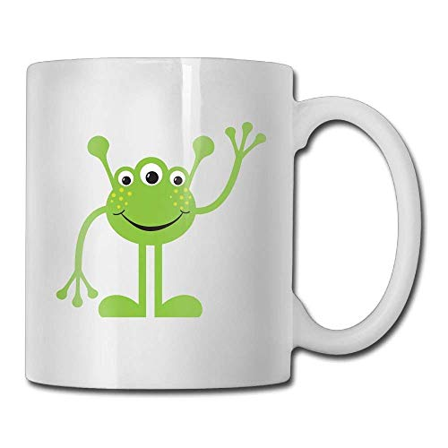 N\A Taza de Doble Cara Frog Alien Taza de café Personalizada Mujeres Marido Regalos de cerámica Taza de té
