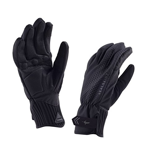 SEALSKINZ Waterproof All Weather Cycle Glove, Black, Large