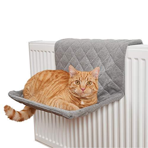 PiuPet® Katzen Heizungsliege - passend für alle gängigen Heizkörper - Katzenhängematte für die Heizung - für Katzen bis 7kg geeignet - Hängematte für Katzen