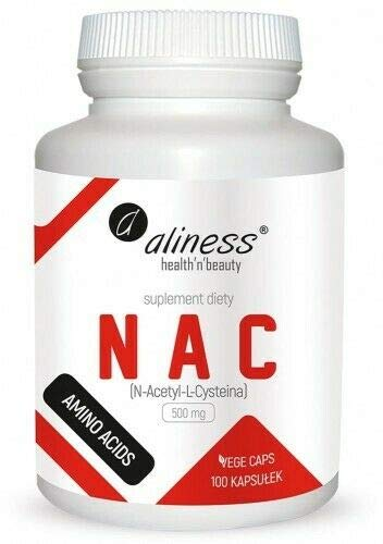 NAC 500 mg N-Acetyl-L-Cysteine 100 VEGE Capsules