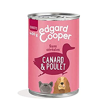 Edgard & Cooper Boite Patée Chien Adulte sans Cereales Nourriture Naturelle 400g Canard et Poulet Frais, Alimentation Saine savoureuse et équilibrée, Protéines de qualité supérieure