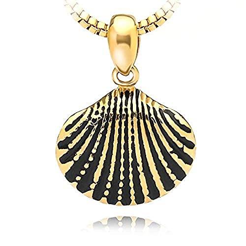 BEISUOSIBYW Co.,Ltd Collar scallum Seashell Collar para Mujeres niñas Petite Gold Chain ketting Collares Colgante BFF joyería Collar Largo de declaración Mujer