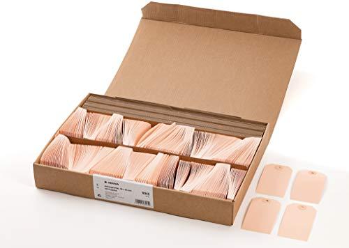 HERMA 6045 Anhängezettel Preis-Etiketten klein (48 x 95 mm, Karton, abgeschrägte Ecken) Geschenkanhänger / Hängeetiketten mit Pappöse, 1.000 Papieranhänger, braun