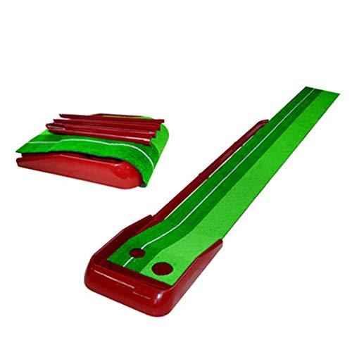 LIYANG Alfombrilla De Golf Golf Putting Green Mat Golf Game Equipos de práctica y Regalos de Golf para Hombres Inicio Oficina Backyard Uso al Aire Libre (Color : Red, Size : 250x40CM)