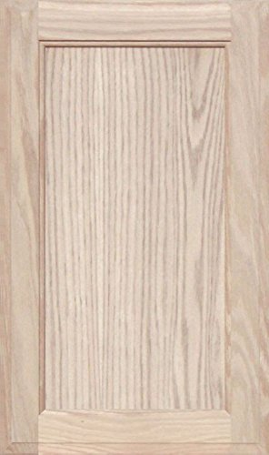 Unfinished Oak Square Flat Panel Cabinet Door by Kendor, 22H x 13W