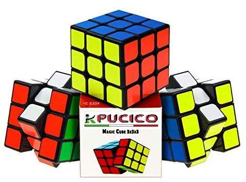 Pucico Cubo magico 3x3 Original Speedcube de Ultima generacion | Cube Profesional Puzzle de Velocidad Juego Mental para Niños y Adultos | Rompecabezas Antiestres No toxico Facil Giro Super Duradero
