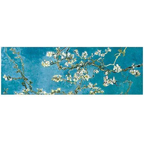 NIEMENGZHEN Druck auf Leinwand Van Gogh Mandelblüte Leinwand Kunst Gemälde Wanddekoration Impressionist Blumen Leinwanddrucke Für Wohnzimmer Cuadros Bild 23,6