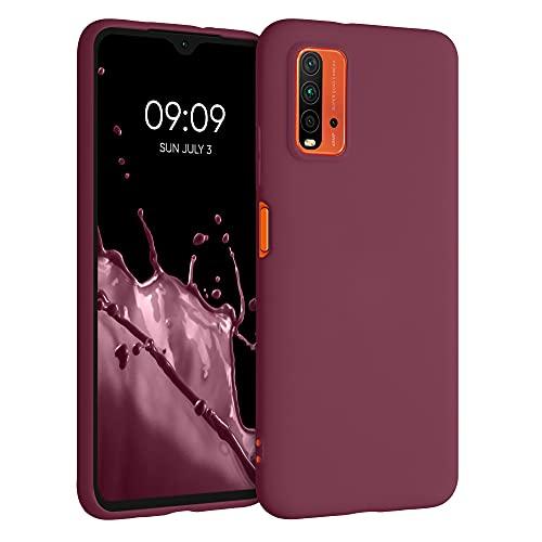 kwmobile Carcasa para Xiaomi Redmi 9T - Funda para móvil en TPU Silicona - Protector Trasero en Violeta Burdeos