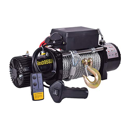 Elektrische Winde 12V / 24V 4000Lb / 4500Lb / 6000Lb / 9500Lb / 12000Lb Lastkapazität Veele Winch Hebes Synthetische Kabel Wasserdichte Power Winch Kit, für Auto Boot ( Color : 12V , Size : 9500lb )