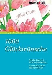 Buch-Tipp: 1000 Glückwünsche: Sprüche, Zitate und Verse für jeden Anlass