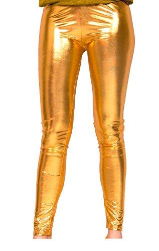 Folat 61715 -Legging Metallic, L-XL, Gold