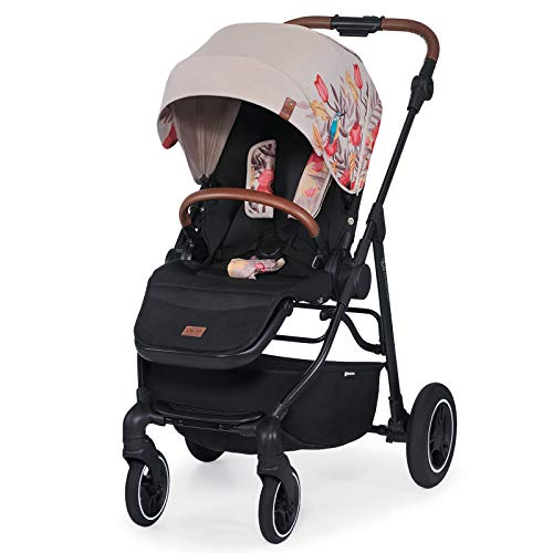 Kinderkraft Stroller ALLROAD, Pushchair, Baby Buggy, Easy Folding, Large Hood with UPF 50+, Two Pushing Directions, All Wheels Suspension, Accessories in Set, Multicolour