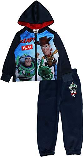 Disney Toy Story Conjunto de 4 chándal con Capucha y Pantalones de chándal para niños Azul Azul Marino 7-8 Años