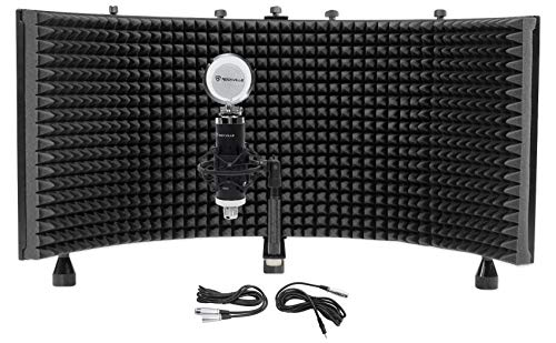 Rockville RCM03 Studio Recording Condenser Microphone+Shock Mount+Vocal Shield