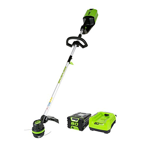 Greenworks 16-Inch 80V String Trimmer, 2.0Ah Battery & Charger Included ST80L210