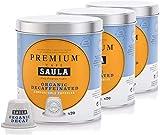 Café Saula, Pack 3 botes con 60 cápsulas compostables. Café 100% Arábica descafeinado. Compatibles Nespresso®.