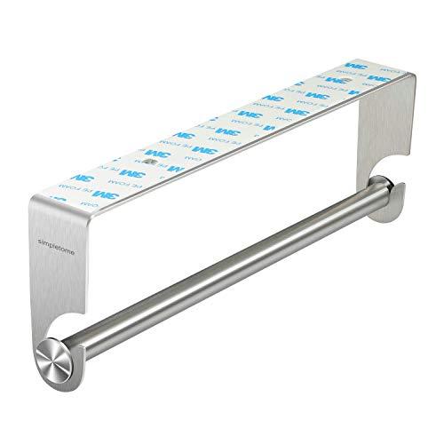simpletome Portarollos de Cocina Soporte para Papel Bajo gabinete 3M Adhesiva Instalación de perforación SUS304 Acero...