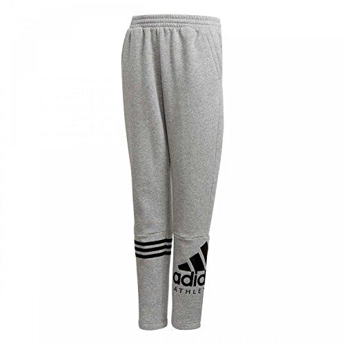 adidas Jungen Sports ID Hose, Grey Heather/Black, 164