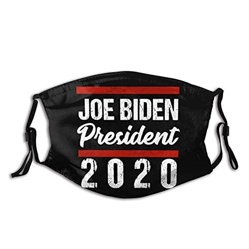 asdew987 Biden 2020, Joe Biden para Presidente, 46º Presidente, Biden para 2020 Cara de tela Ma_sk lavable reutilizable boca Ma_sk cubierta transpirable con bucles ajustables para los oídos