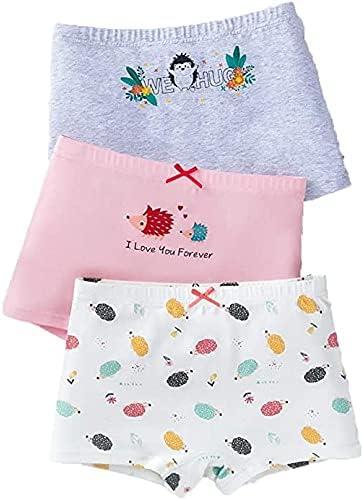 Little Girls' Soft Cotton Briefs Underwear Toddler Undies Baby 3 Packs Shorts Panties - Cute Hedgehog Animal