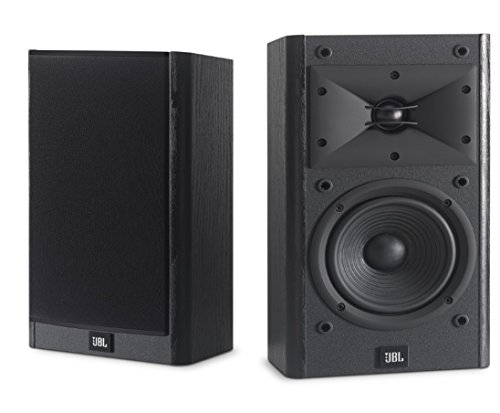 JBL Arena B15 Black Bookshelf & Surround Speaker with Special Edition Grilles & Logo Set of 2...