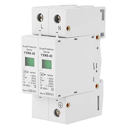 1 Pz 220V 2P 40KA Dispositivo di protezione contro le sovratensioni a bassa tensione per la casa, dispositivo di protezione contro le sovratensioni con prestazioni stabili e facile da installare