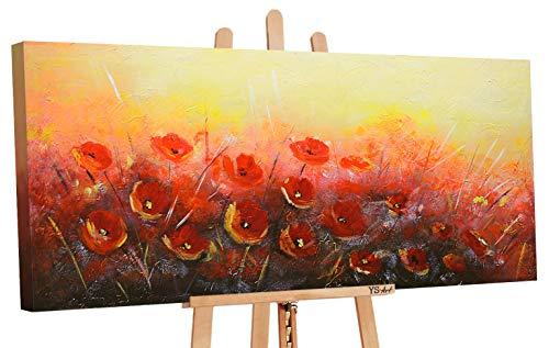 YS Оffrire Fino 30.01 Art | Dipinti a Mano Colori acrilici Profumo dei Fiori | Quadro Dipinto a Mano |115x50cm | Pittura | Dipinti Modern | Quadri Dipinti a Mano | Arancione