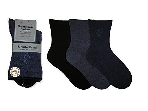 Unbekannt Damen Gesundheitssocken extra weiter Schaft in Trichterform,6-pack, Jeans, 39/42
