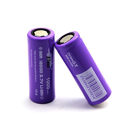 Efest Purple IMR 15 A Entladestrom 18500 1000mAh Flat-Top