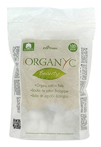 Corman Cotton Balls 100 ct Cotton Toiletries by ORGANYC