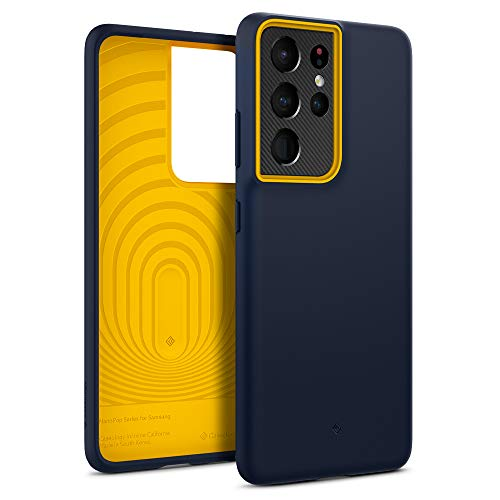 Caseology Nano Pop Compatible with Samsung Galaxy S21 Ultra Case 5G (2021) - Blueberry Navy