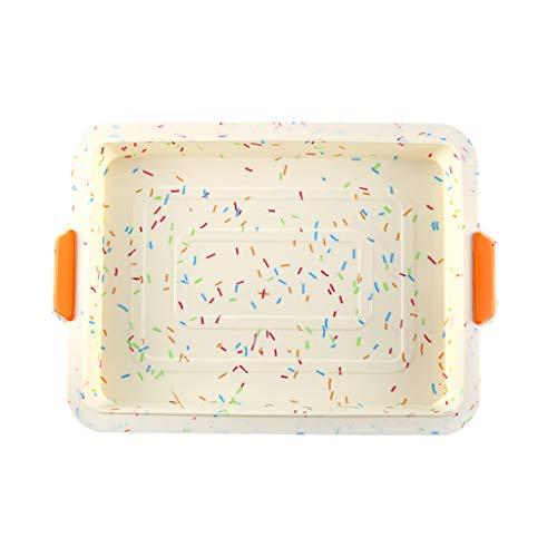 Brotschale Mini Pan rechteckig aus Silikon antihaftbeschichtet – Brotschale aus Silikon, antihaftbeschichtet, Form für Seife für Pudding, Muffins, Brotkrümel, Brownies, Maisbrot und Käse mehrfarbig