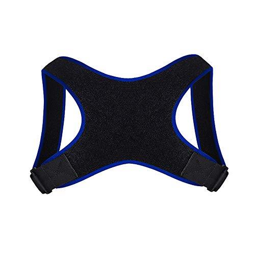 Beashine Haltungskorrektur für Männer und Frauen, Geradehalter zur Haltungskorrektur Unter Kleidung Rücken Schulter Haltungstrainer Verstellbar Lendenwirbel Unsichtbar Rückenstabilisator, Blau