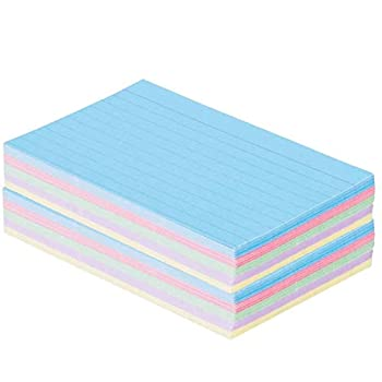 1InTheOffice Index Cards 3 x 5 Ruled Colored Assorted 200/Pack