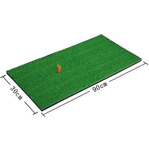 Balai Hinterhof Golf Schlagmatte, Golf Trainingshilfen, Outdoor Indoor Golf Schlagen Pad Praxis Gras Matte (grün)