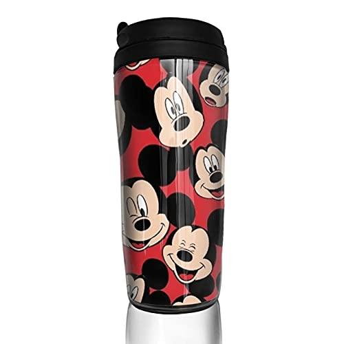 Dibujos animados lindo Mickey Minnie Mouse taza de café hombres mujeres aislamiento agua taza viaje oficina trabajo al aire libre novedad regalo cumpleaños 12 oz capacidad