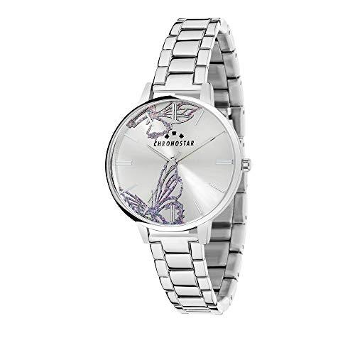 CHRONOSTAR Damen Analog Quarz Uhr mit Edelstahl Armband R3753267507