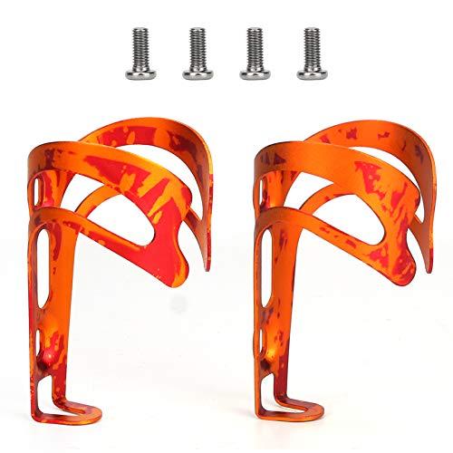 Brynnl Portabotellas de agua para bicicleta, 2 unidades, ultraligero, aleación de aluminio, soporte para botellas de bicicleta, para bicicletas de carretera, MTB
