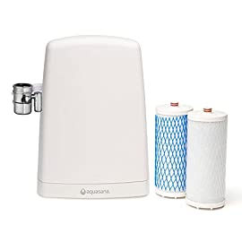 Aquasana AQ-4000W Countertop Drinking Water Filter System, White 1 If the faucet diverter valve does not fit, you will need to install one of the brass faucet adapters before attaching it.